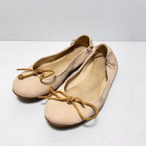 Sperry Tan Flats Leather Lace up Shoes Slip On 9M